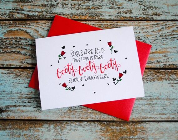 Saint Valentin Butin Poème Carte Damoureux Saint Valentin Carte Carte Damour Drôle Petit Ami Carte Petite Amie