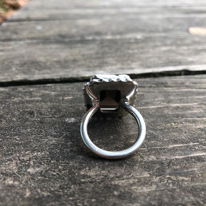 Handmade Smoky Quartz Silver Smoky Quartz Jewelry Large Smoky Quartz Smokey Quartz Exellent Quality Smoky Quartz Ring