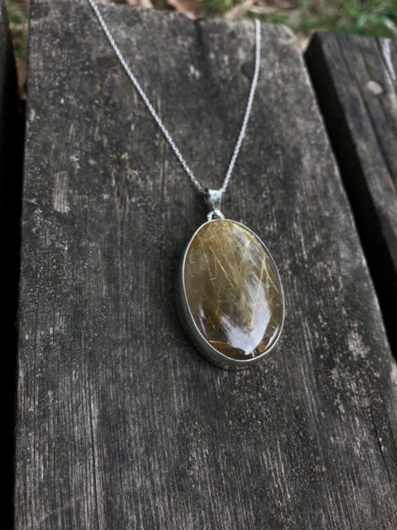 Handmade /& Silver Golden Rutillated Quartz