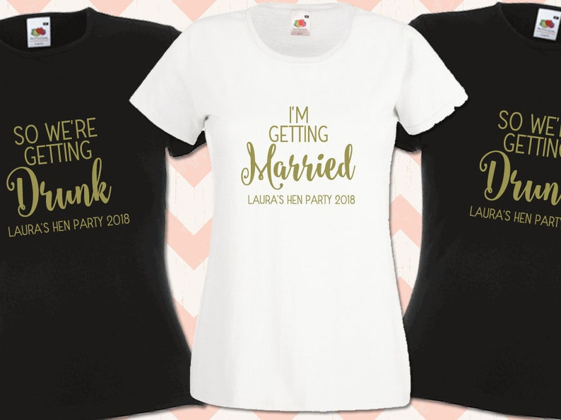 ff9ae4fc Personalised Hen Night T-Shirt Hen Do Team Bride Squad Married   Etsy