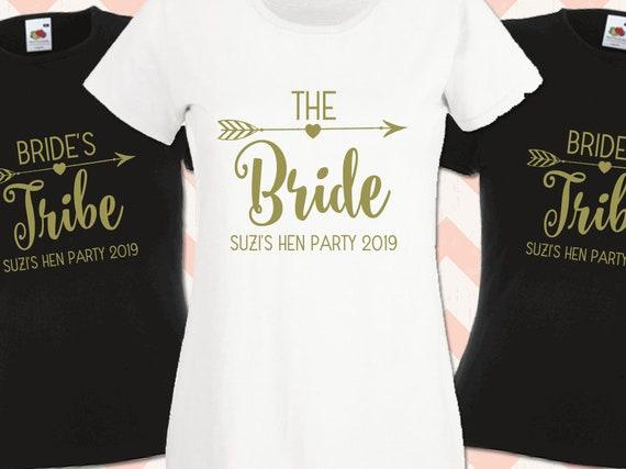 Hen Do T Shirts Hen Party Wedding Night Bride Custom Ladies Personalised Printed