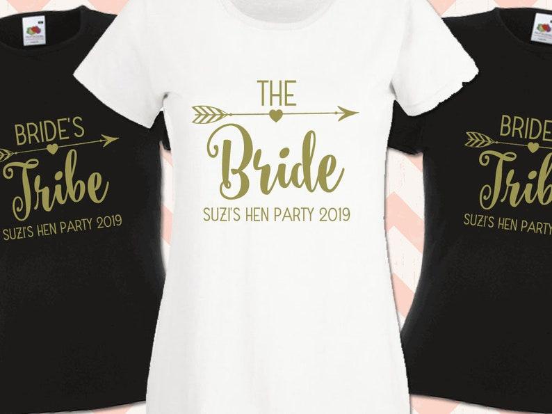 001964b539 Bride's Tribe Personalised Hen Night T-Shirt Hen Do Team | Etsy
