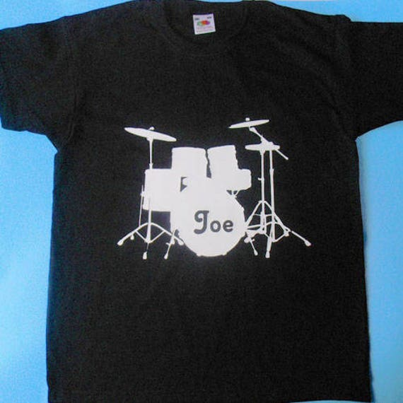 Threadrock Little Boys Drum Kit Toddler T-Shirt