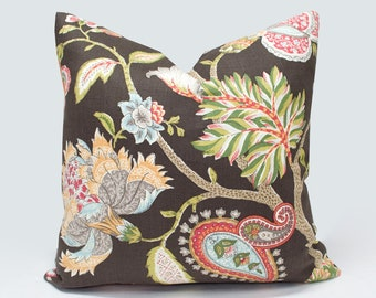 Large Floral Pillow Etsy