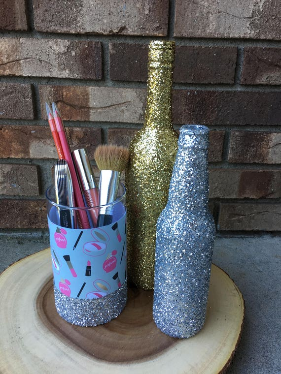 Makeup Brush Holder Glitter Make Up Brush Holder Storage ...