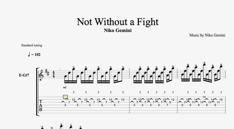 Not Without A Fight Tab