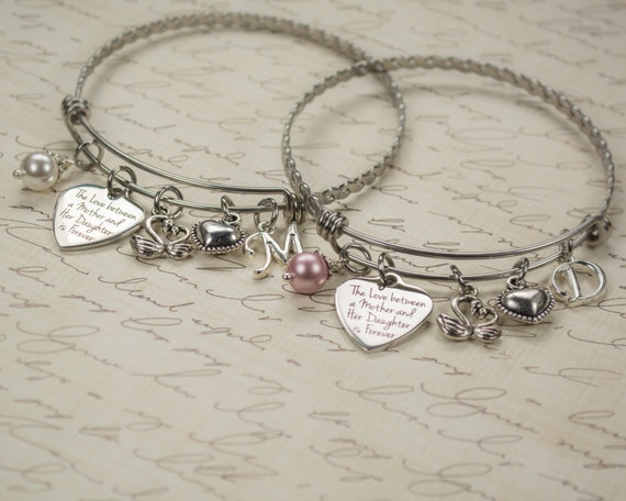 Personalized Mother/'s Day Gift for Mom  Elegant Engraved Birthday Gift for Mother Customized Family Birthstone Charm Bracelet Mom Jewelry 81