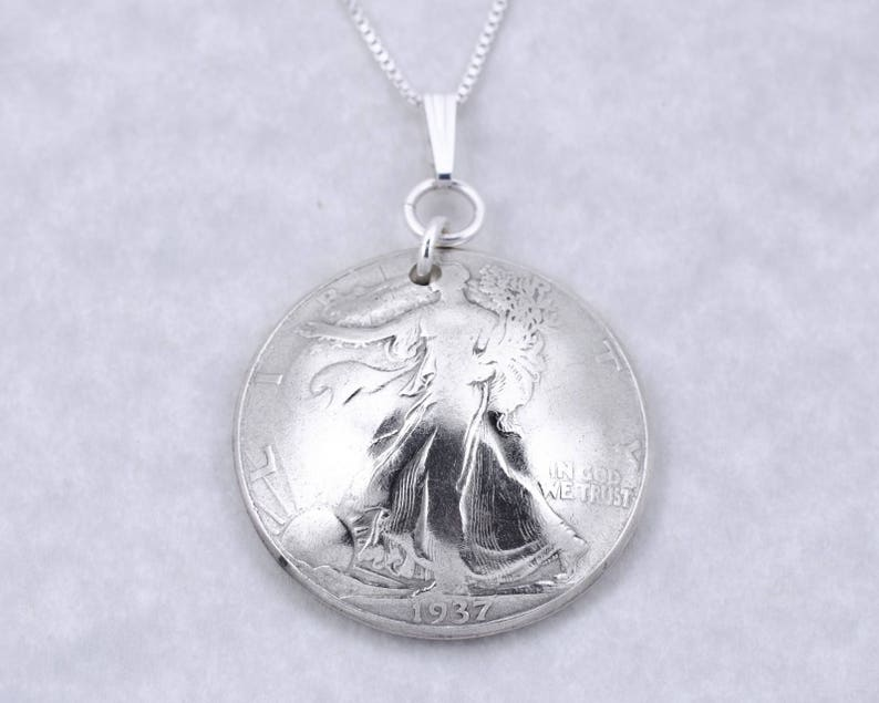 85th Birthday Gift 1934 Silver Half Dollar Coin Pendant