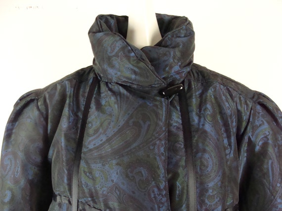 Vintage Bill Blass Coat 80s Quilted Down Puffer C… - image 7