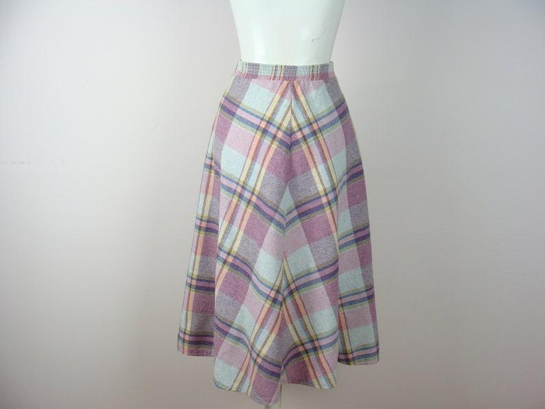 52b68e27ee Vintage Plaid Skirt 70's A-line Midi Fall Fashion Wool | Etsy
