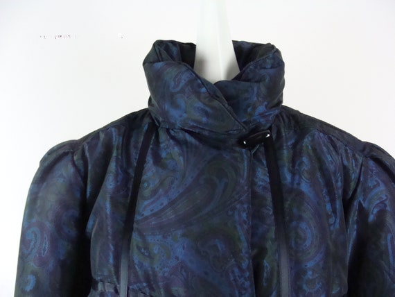 Vintage Bill Blass Coat 80s Quilted Down Puffer C… - image 3