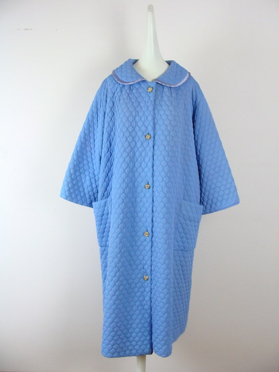 Vintage Quilted House Coat 50s Robe Saybury 60s Sw