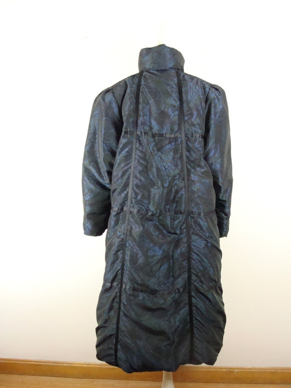 Vintage Bill Blass Coat 80s Quilted Down Puffer C… - image 9
