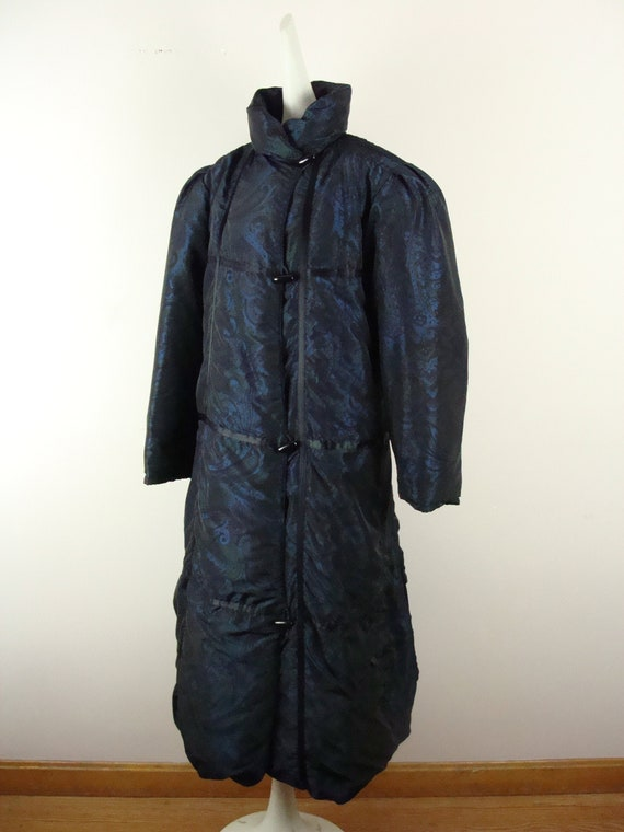 Vintage Bill Blass Coat 80s Quilted Down Puffer C… - image 2