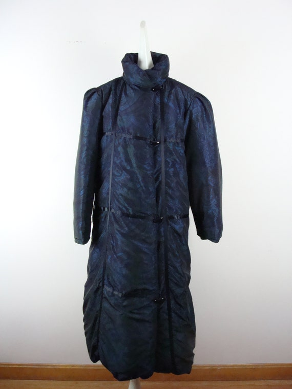 Vintage Bill Blass Coat 80s Quilted Down Puffer C… - image 1