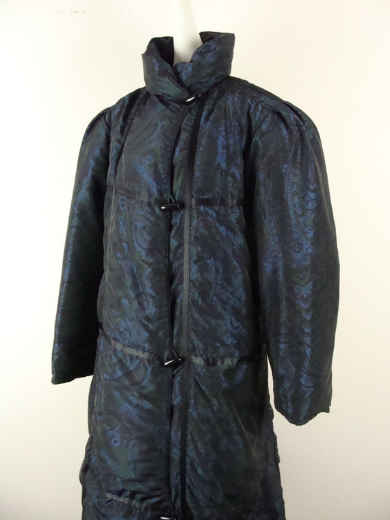 Vintage Bill Blass Coat 80s Quilted Down Puffer C… - image 5