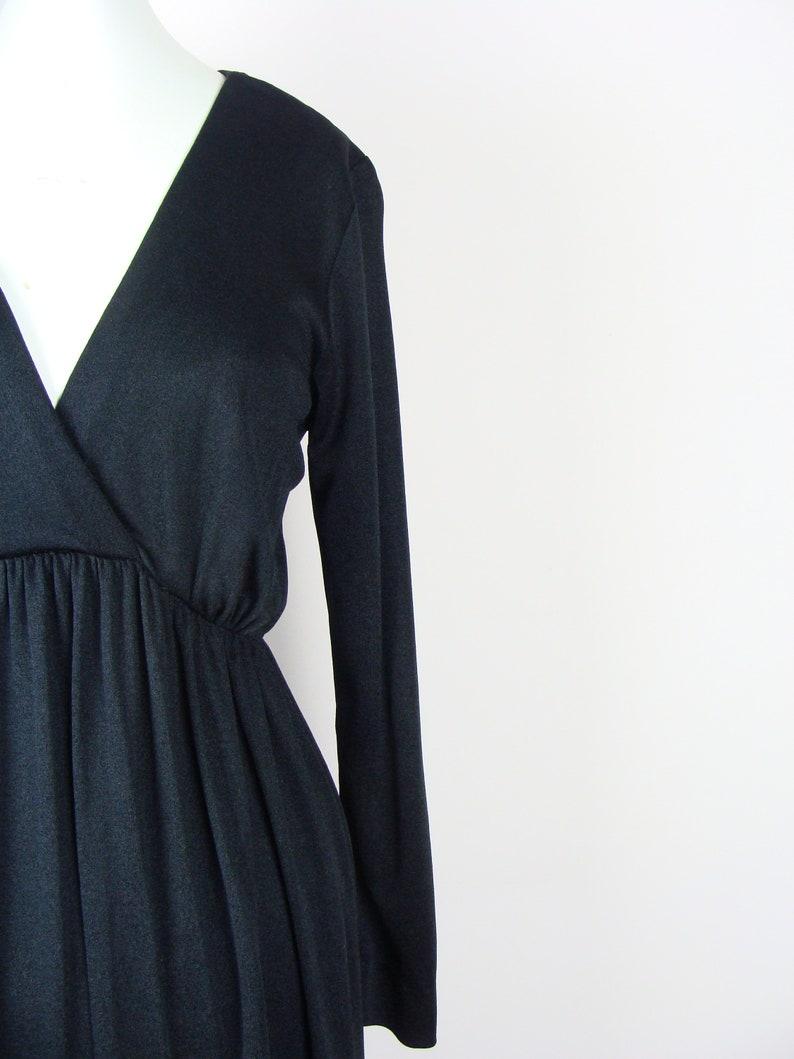 9438348144f1 Vintage Maxi Dress 70's Disco Dress V Neck Flowy Gown Long | Etsy