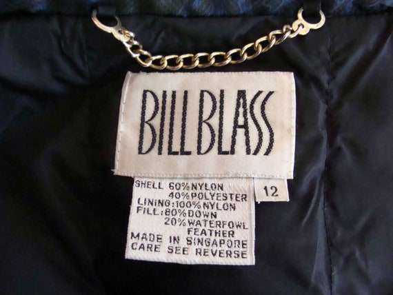 Vintage Bill Blass Coat 80s Quilted Down Puffer C… - image 10