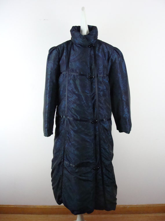 Vintage Bill Blass Coat 80s Quilted Down Puffer C… - image 6