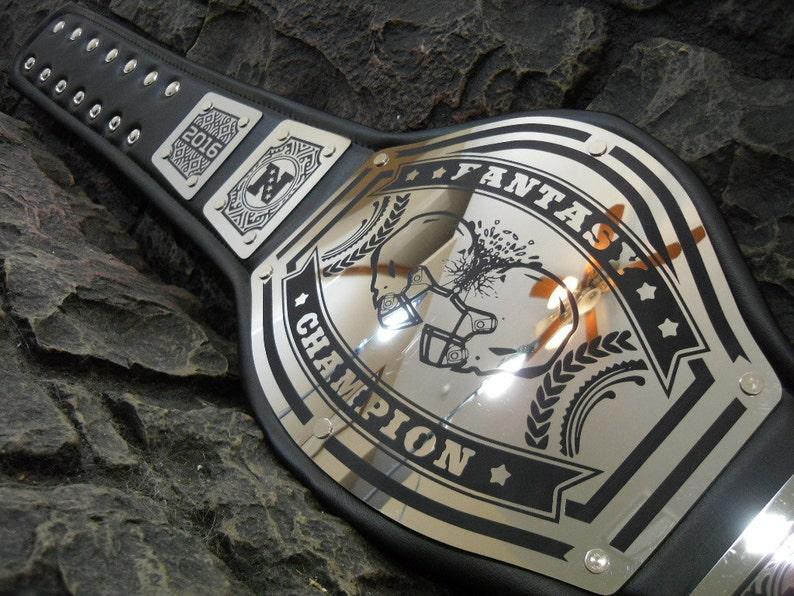 Fantasy Football Championship Belt Fantasy Champion New Bold Black Engraving ! Adult Size premium avenger model high quality metal plates