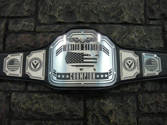 Fantasy Football Championship Belt New Enforcer Model 30/% larger plates than our other models High quality steel plates hand crafted