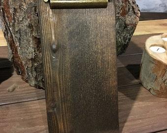 Restaurant Check Presenters - Clipboards - Restaurant Menu Boards - Rustic Menu Boards - Rustic Clipboard - Wood Clipboard