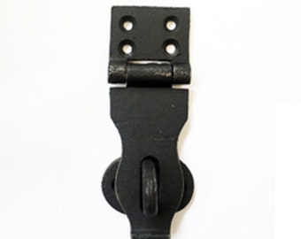 Iron Latch - Antique Style Iron Hasp - Black Iron Trunk Latch