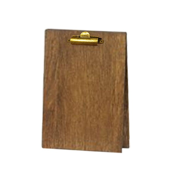 Wood Table Tent Clipboard Restaurant Table Tent Bar Top Etsy - Wooden table tents