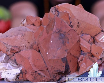 Hematite Oxidized Crystal Quartz Cluster Superb Quality Cosmiccuts Jg-h4