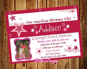 American girl invite etsy our american birthday girl doll birthday party doll invitation doll me party invitation doll bistro invitation digital file filmwisefo
