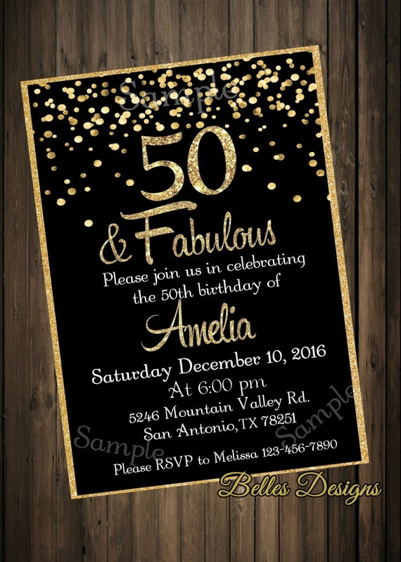 50 fabulous 50th birthday party birthday invitations etsy image 0 filmwisefo