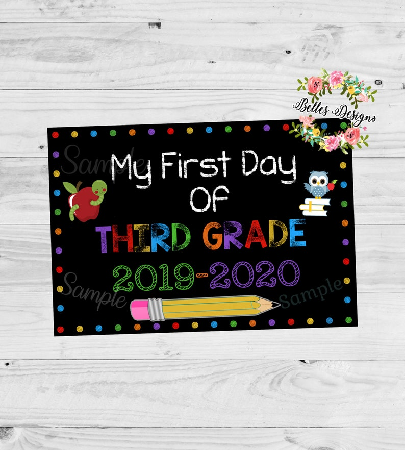 First day of school Banner, Signs, Back To School, 3rd Grade, Back to  school banner, Chalkboard sign, School Sign, Digital File, 11x16