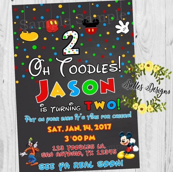 beautiful twodles birthday invitation for 62 oh toodles birthday invitations