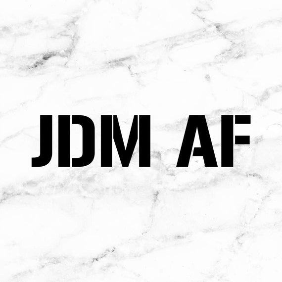 Jdm decal jdm life car scene decals jdm af custom car