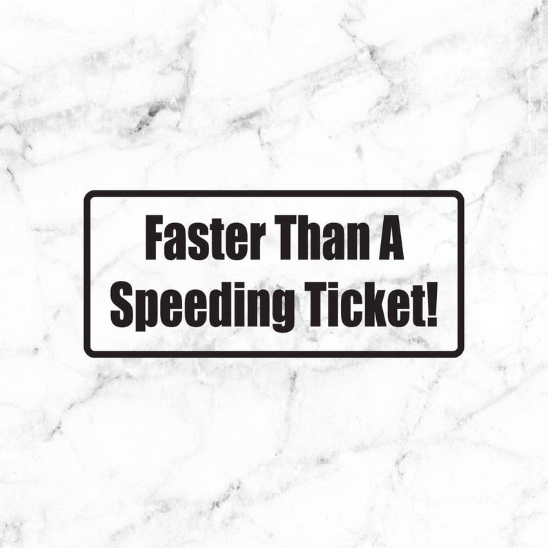 57ee961342 Speeding decal Fast car sticker JDM decal KDM decal import