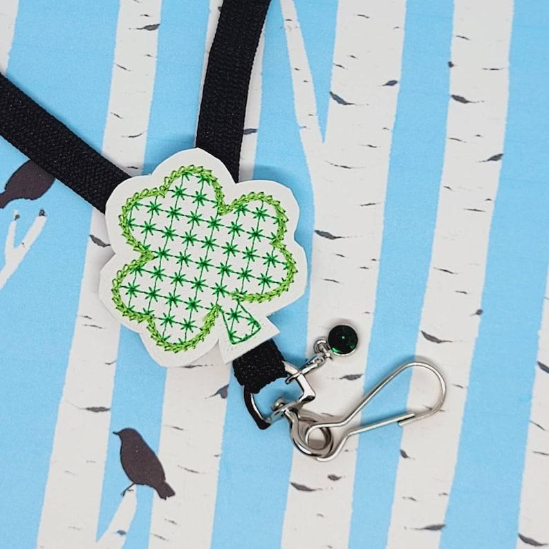 Shamrock Nurse Badge Holder Green St Patricks Day Shamrock Retractable Badge Reel or Lanyard Shamrock Teacher Planner Clip or Paperclip