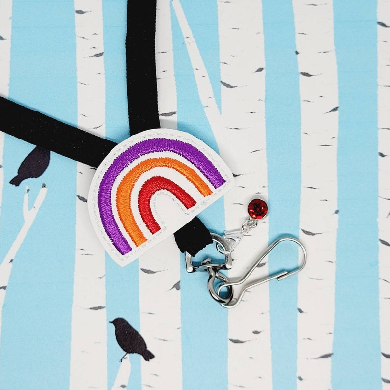Rainbow Lover Bookmark Rainbow Retractable Badge Reel Rainbow Paperclip Planner Clip Rainbow Love Badge Reel Rainbow Nurse ID Clip