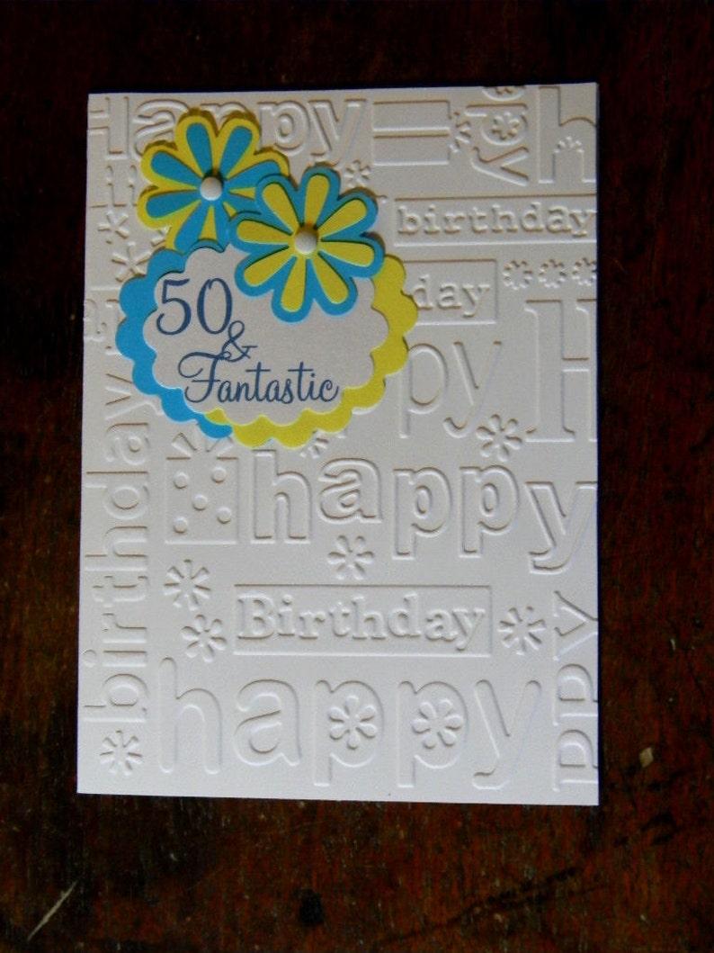 Happy 50th Birthday Greeting Card 50 Fantastic