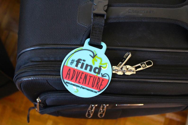 Find Adventure Luggage Tag image 0