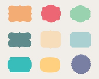 frames clip art labels tags vector frame clipart photo etsy