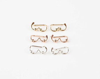 Boob Earrings. Bobby Pin Earrings. Breast Earrings. Ear Sweeps. Ear Climber. Crawler Earrings. Sterling Silver. Gold. Rose Gold.
