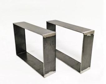 Set of 2 Coffee Table Legs | Square Legs Rectangular Legs Industrial Legs