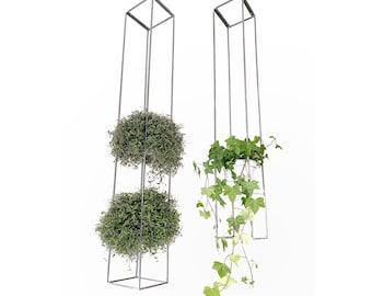 Modern handmade geometric suspended steel plant holder