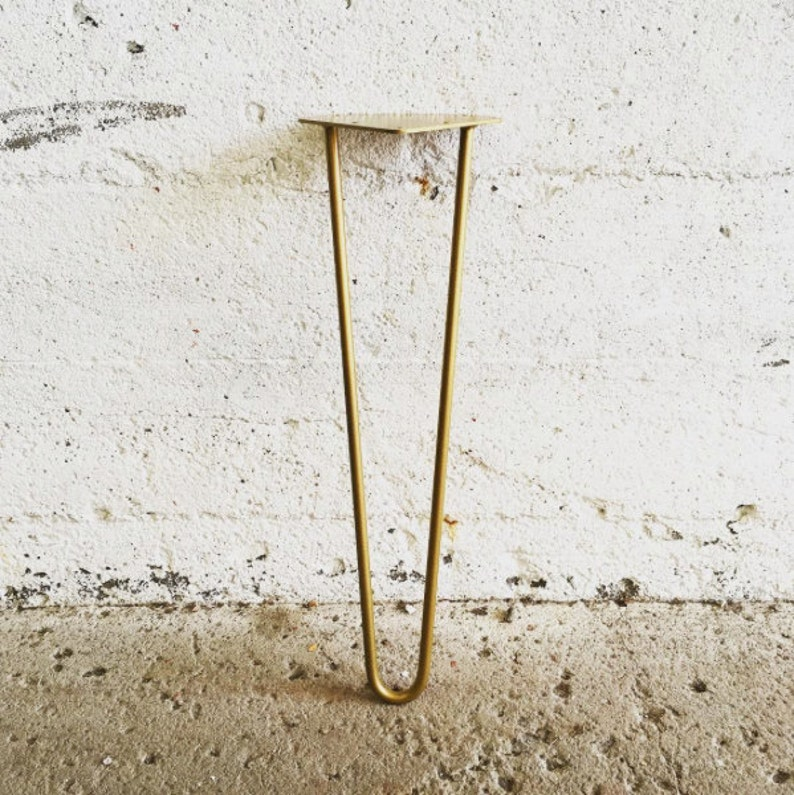 Set of 4 4'' to 20'' Golden Brass Hairpin image 0