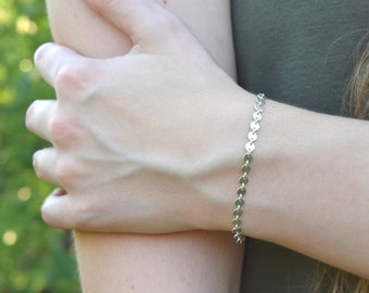 Dainty Silver Bracelet, Dainty Silver Chain, Dainty Bracelet Women, Minimalist Silver Bracelet, Romantic Gifts Her, Chain Bracelet Silver