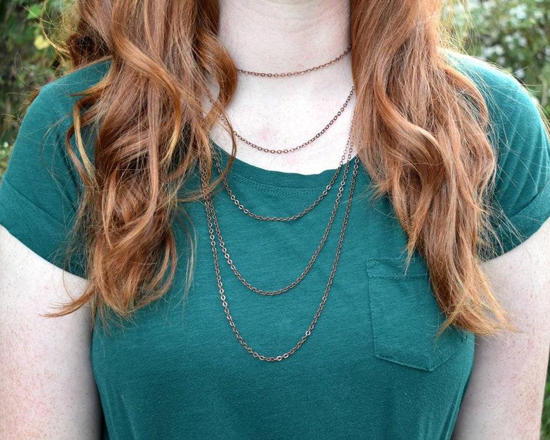 Layered Necklace Choker Layered Necklace Women Layered image 0