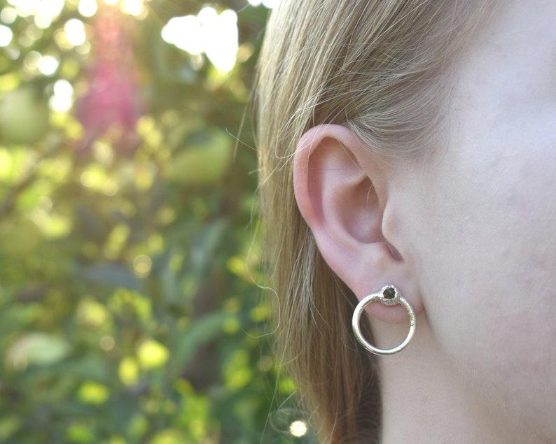 Garnet Dangle Earrings Garnet Birthstone Jewelry Raw Garnet image 0