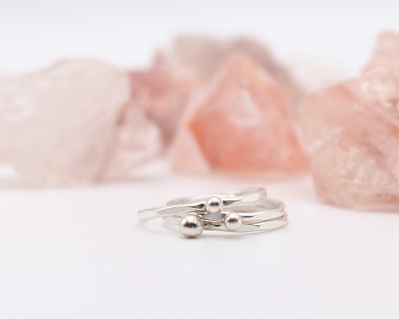 Dainty Silver Ring Dainty Ring Set Dainty Stackable Ring image 0