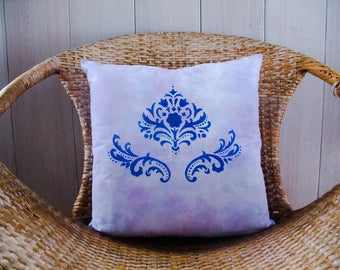 Tie Dyed Stenciled Pillow Case