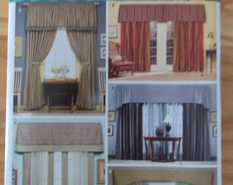 Sewing pattern Simplicity 4098 Christopher Lowell Collection Valances and panels new uncut